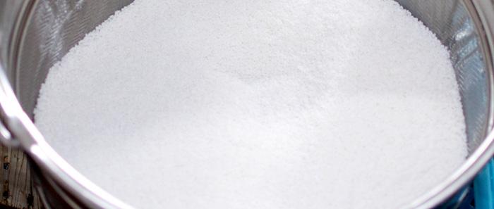 限定吸水で真っ白になったお米