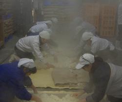 蒸し米の様子